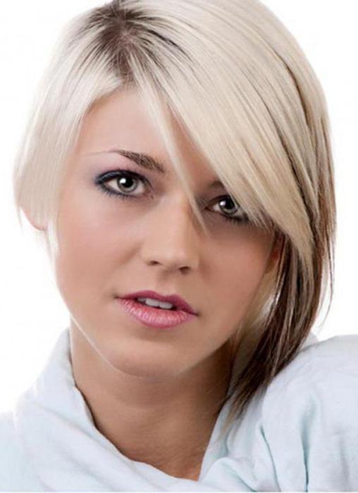 модная короткая стрижка женская на круглое лицо