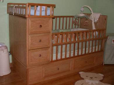 детская кровать с ящиками внизу