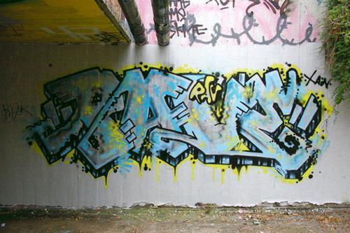 как нарисовать графити на стене
