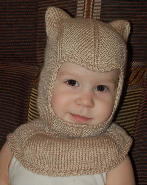 связать шапку шлем спицами мальчику