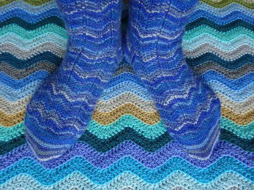 схема вязания носка
