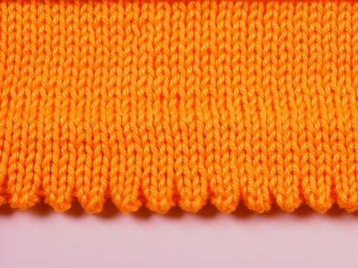 Схема зубчатого края спицами