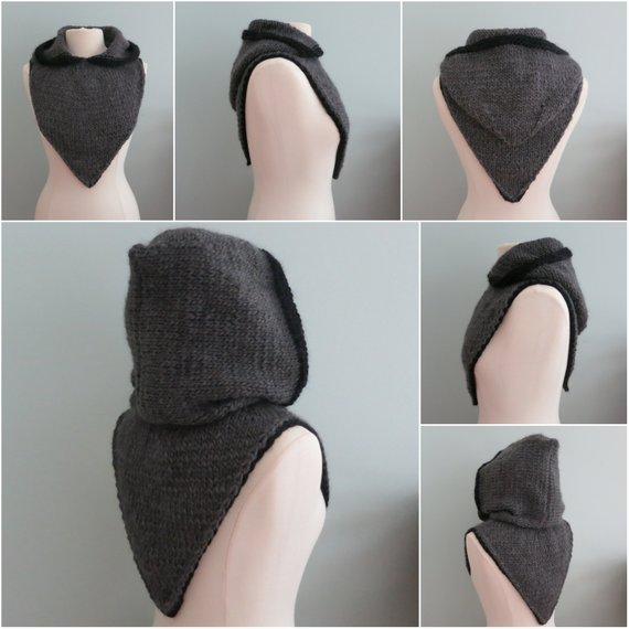 Капюшон-шапка спицами: описание работы, интересные модели, фото