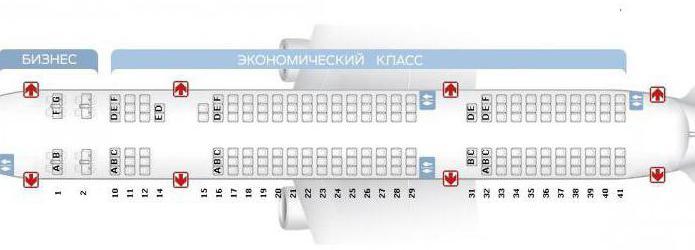 Схема салона самолета ту-204 ред вингс