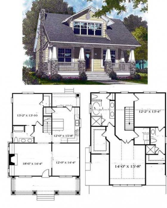 планировка американского двухэтажного дома