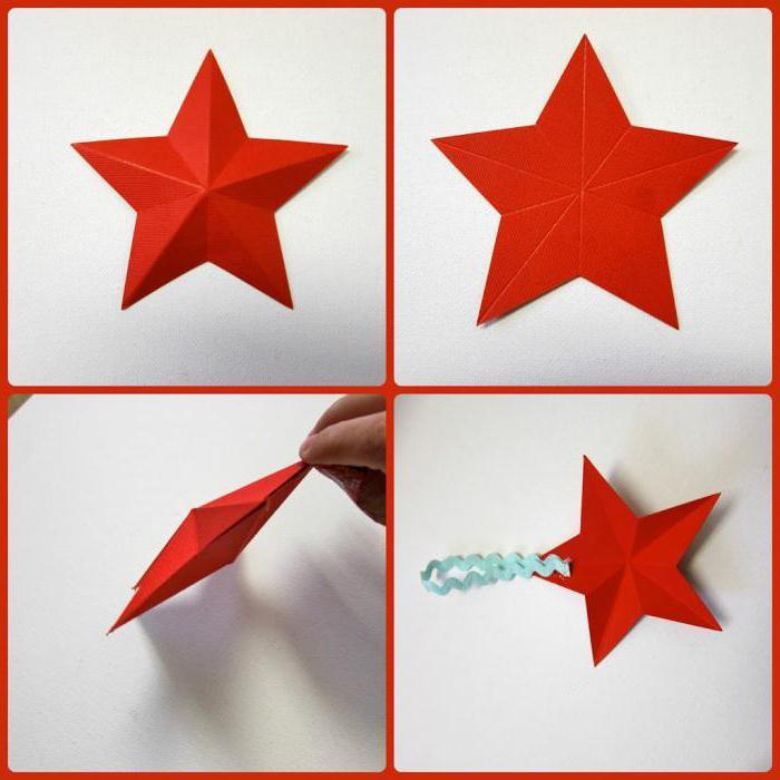 Открытки, как сделать маленькую звездочку из бумаги на открытку