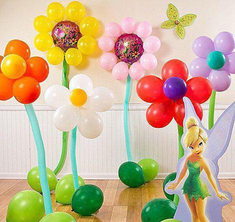 Цветок из шаров своими руками просто фото 651
