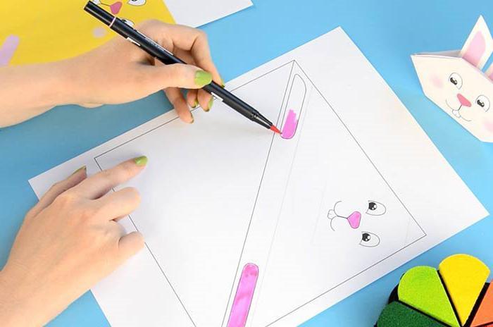 как сделать зайца из бумаги оригами для начинающих