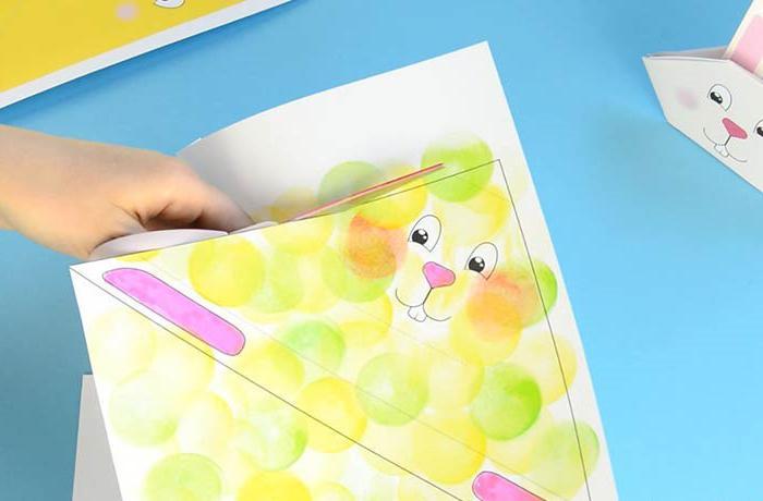 как сделать зайца из бумаги своими руками оригами