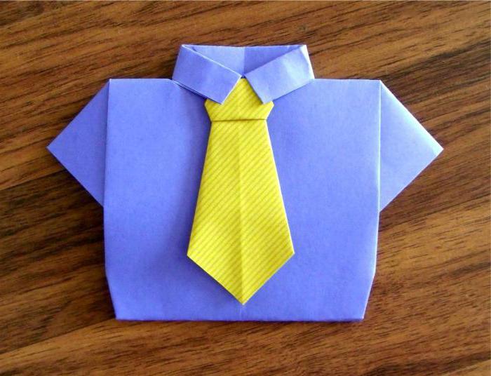 Оригами открытка папе