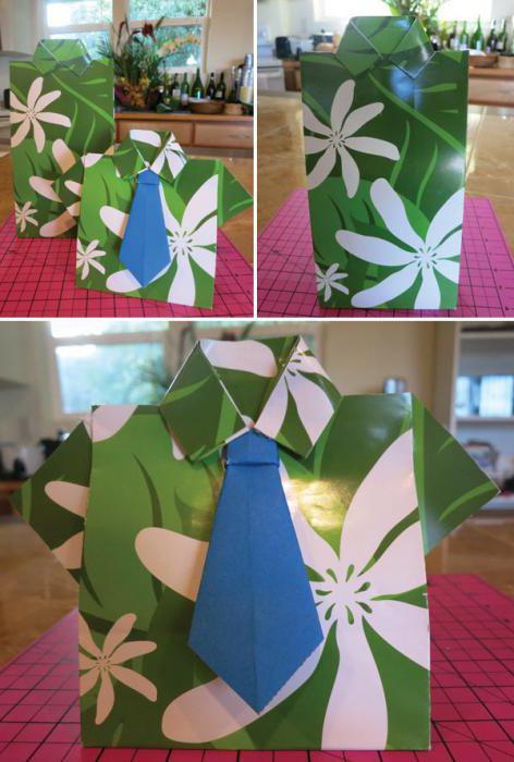 галстук из бумаги оригами