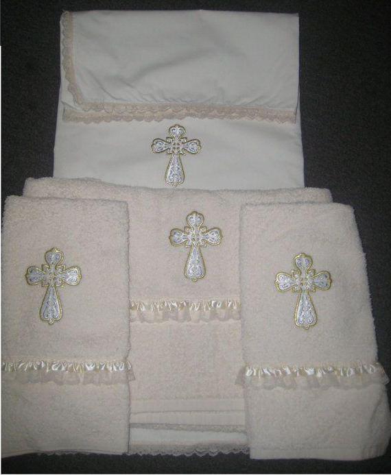 крестильное полотенце махровое