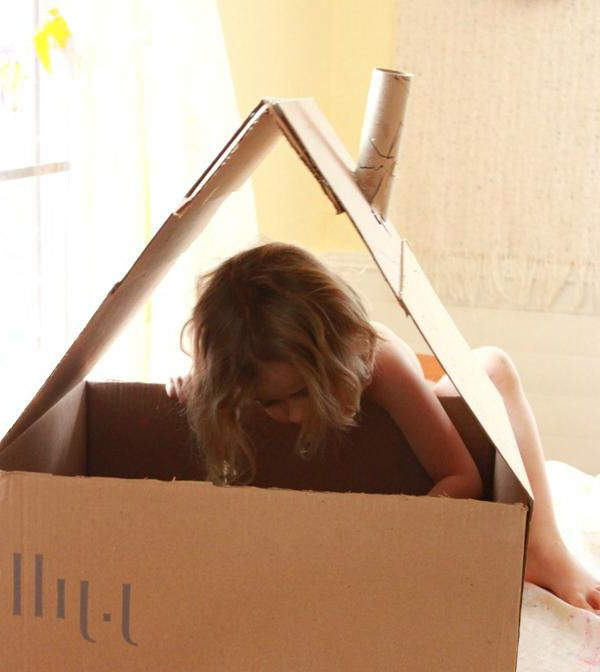 дом из картона для куклы своими руками