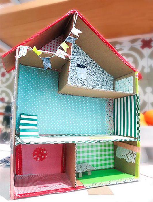 Сделать домик из коробки или картона своими руками фото 701