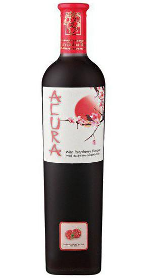 вино акура малиновое