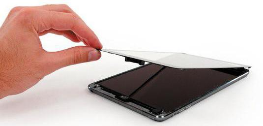 сколько стоит замена стекла в планшет