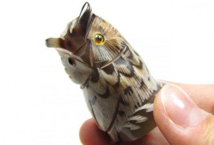 сова из природного материала своими руками