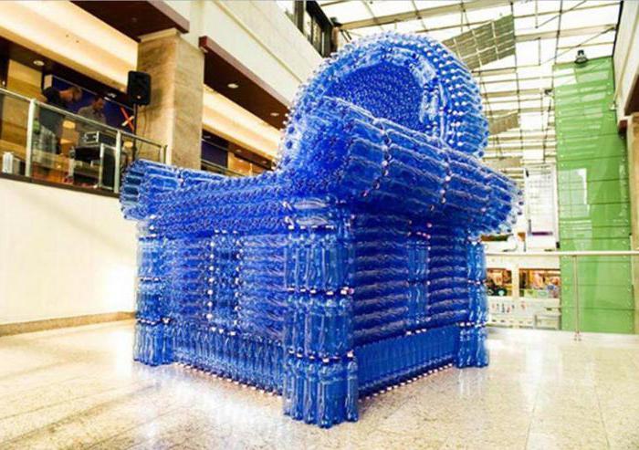 Как сделать кресло из пластиковых бутылок кресло