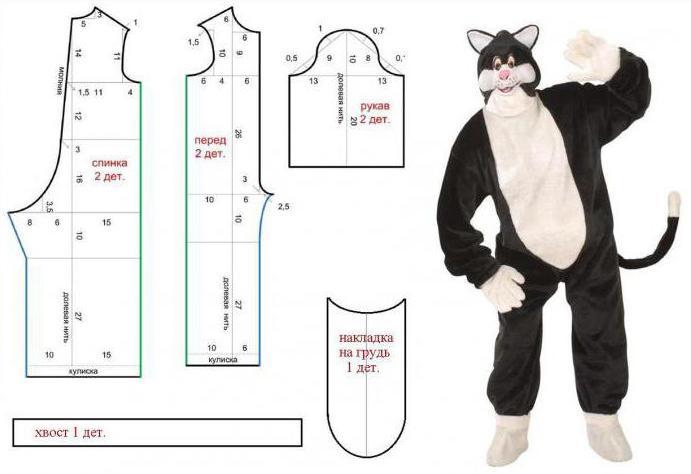 костюм кота для мальчика своими руками выкройки