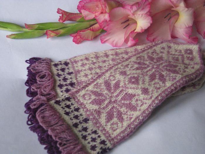 вязание спицами варежки с орнаментом