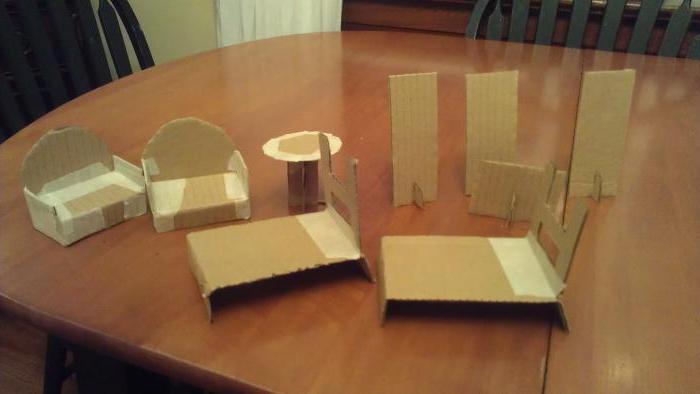 мебель из картона для кукол своими руками