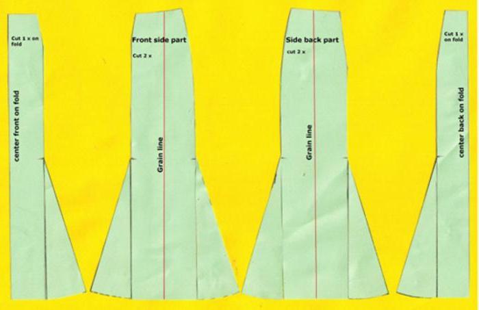 выкройки юбок для полных женщин с животом