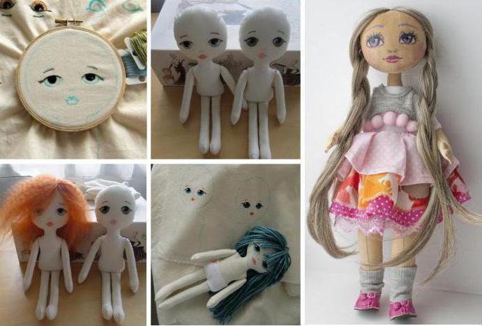 вышивка лица у вальдофских кукол