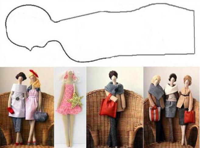 выкройка куклы текстильной в натуральную величину
