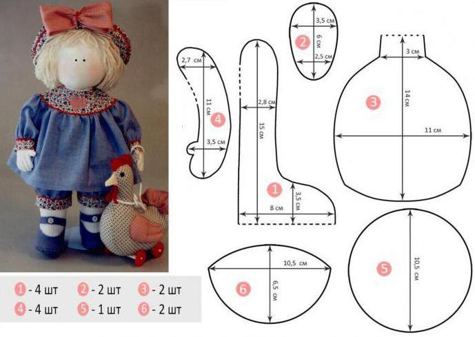 Выкройка куклы снежок 108
