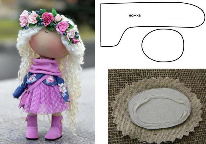 Сшить замечательную вещицу поможет выкройка куклы Снежки в натуральную величину!