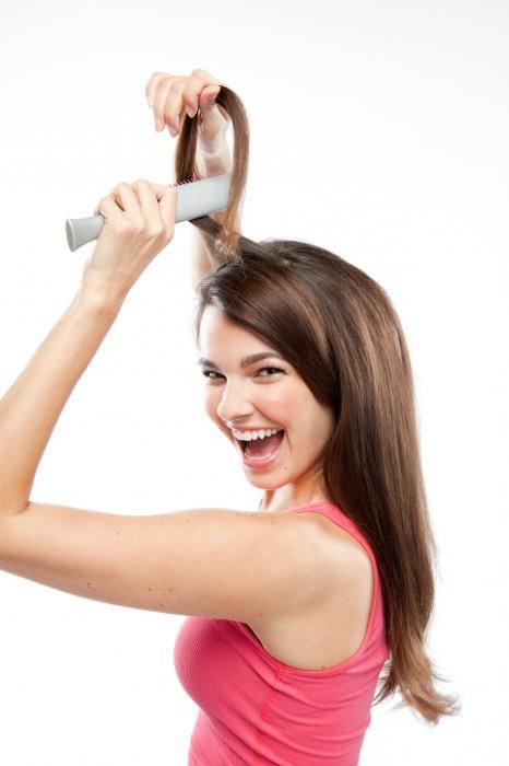 как самой уложить волосы