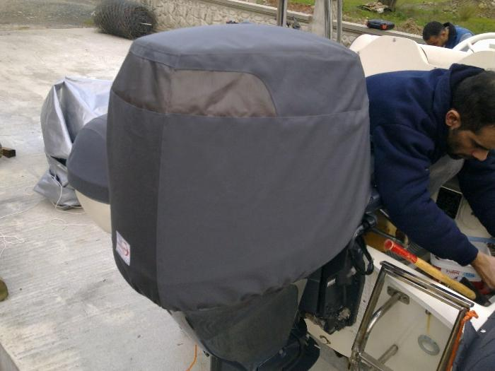 Чехол на капот для лодочного мотора своими руками 87