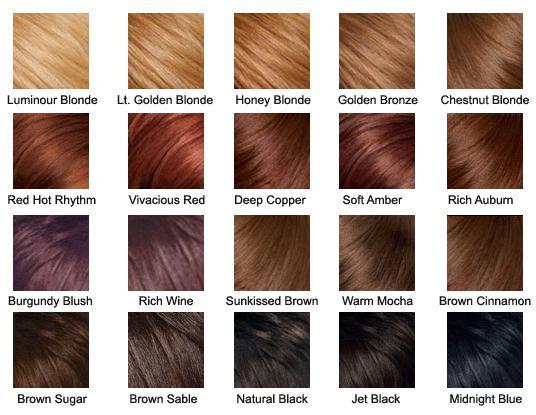 палитра оттенков волос