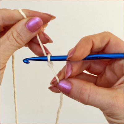 столбики с двумя накидами крючком