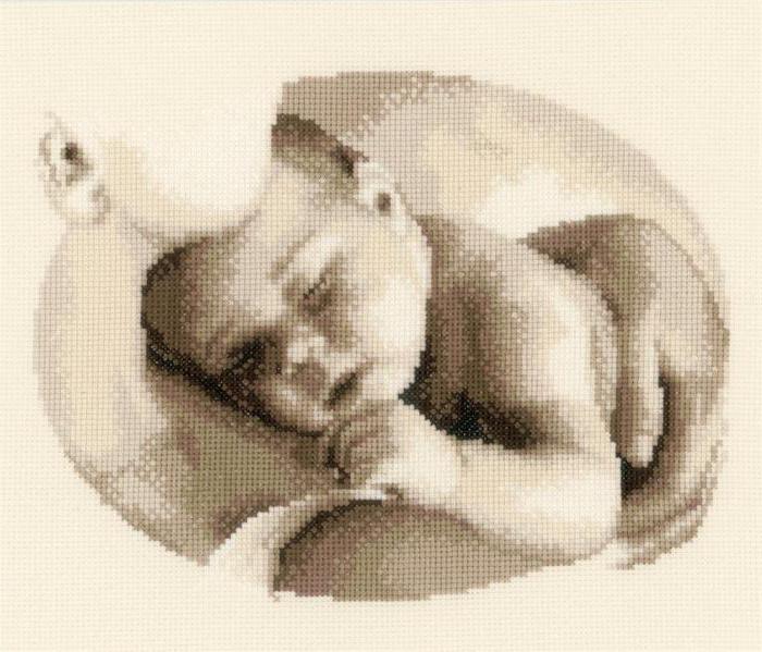 вышитая метрика для новорожденного