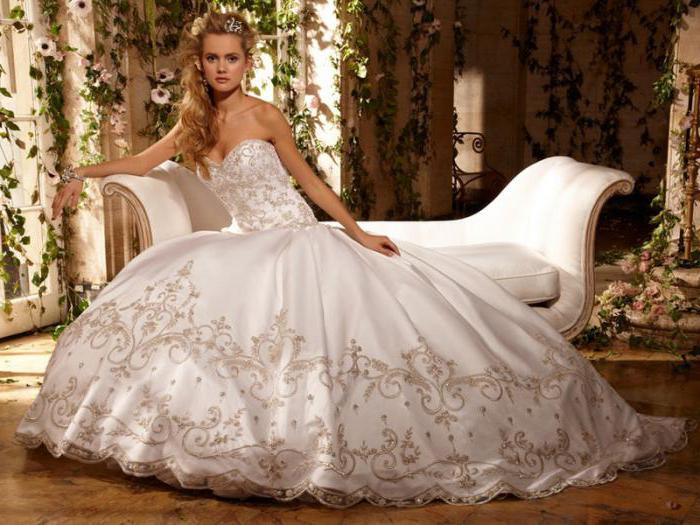 Красиво описать свадебное платье