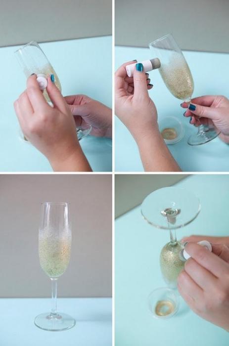 Свадебный бокал своими руками: легко и просто