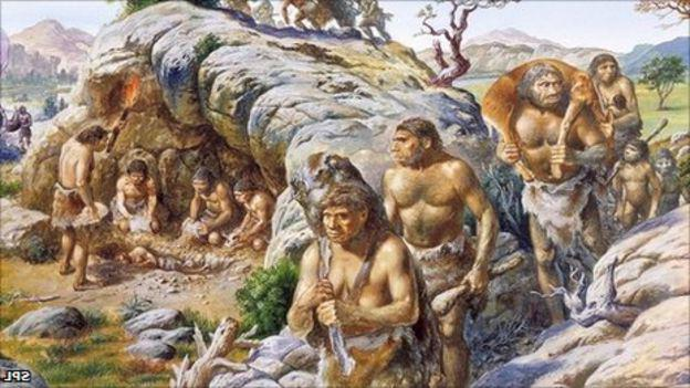 Quaternary period humans