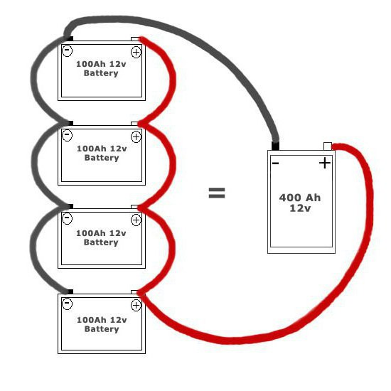 паралельное соединение аккумуляторов
