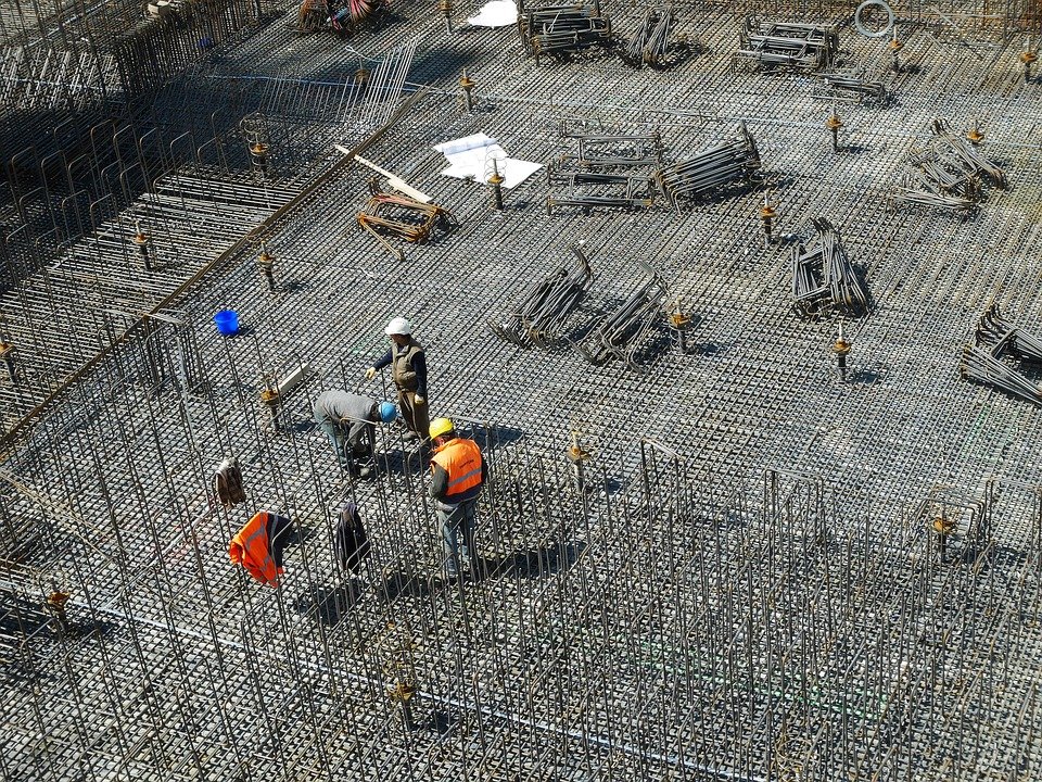 preparation of the construction site