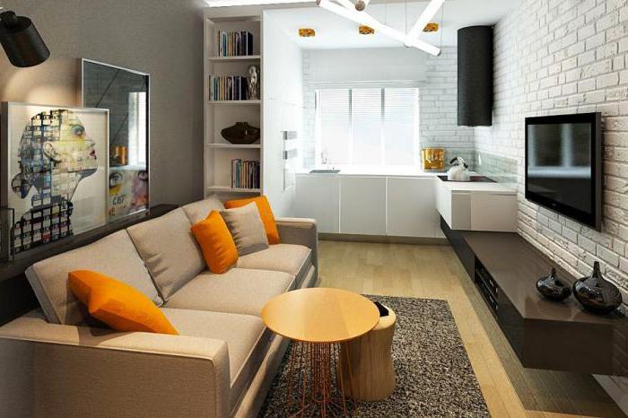 квартиры кухня совмещенная залом