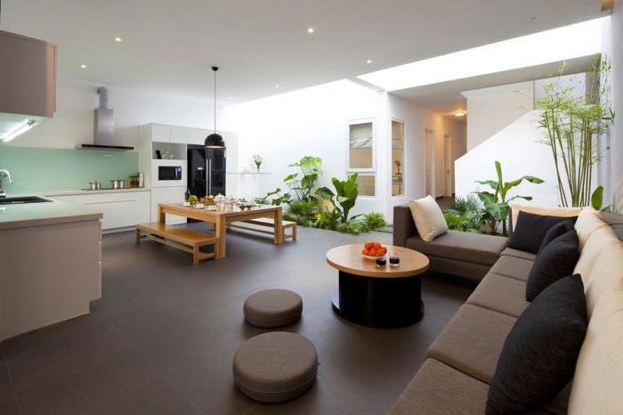кухня и зал дизайн оформления