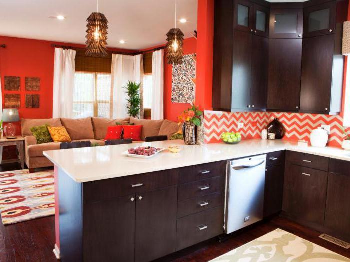 дизайн гостинной и кухни