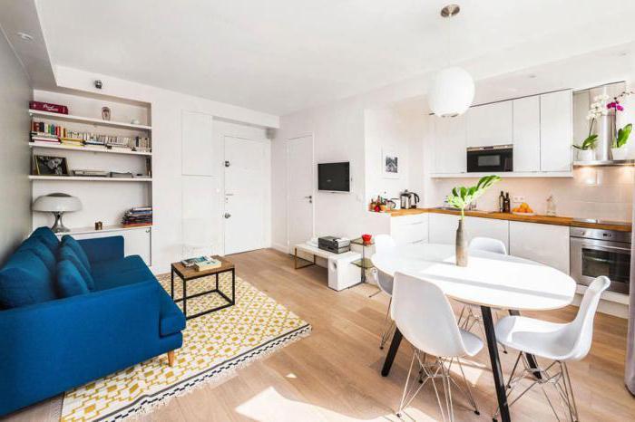 современный дизайн совмещенного зала кухни фото