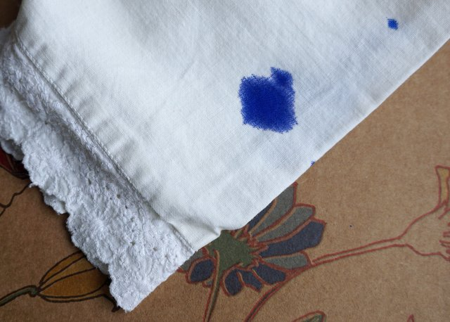 Ink on a white cloth