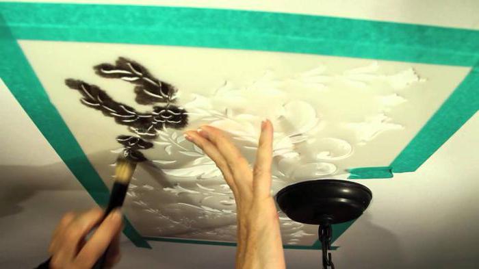 Трафарет на потолке своими руками