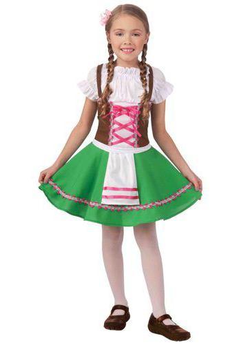 национальный немецкий костюм для девочки фото