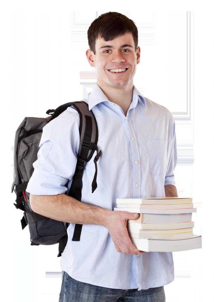 applicant holds books
