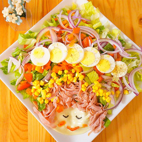 как украсить салат яйцом