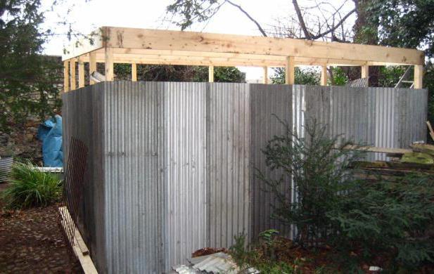 Как построить сарай из профнастила
